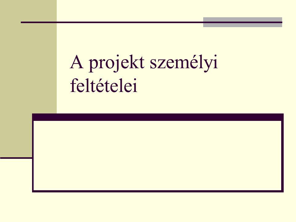 A projekt személyi feltételei