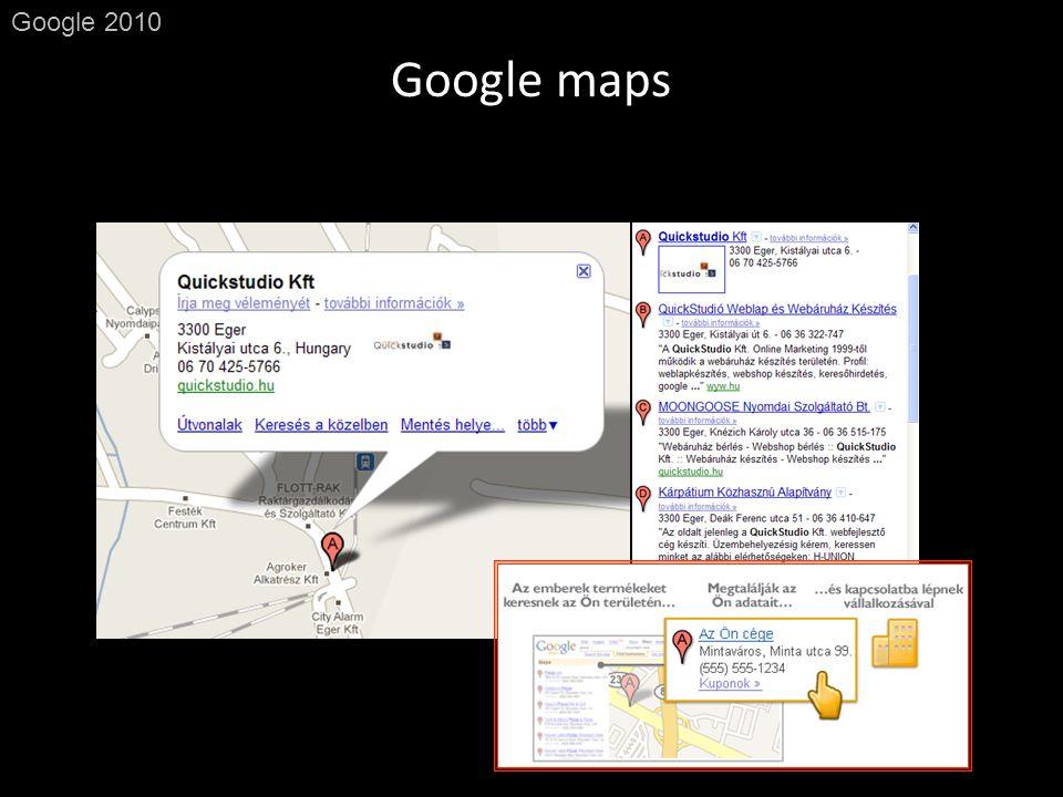 Google maps Google 2010