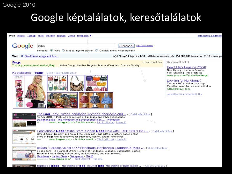 Google képtalálatok, keresőtalálatok Google 2010