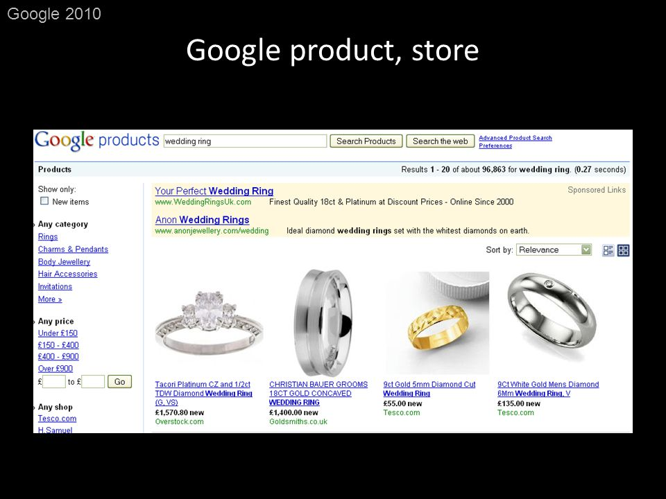Google product, store Google 2010