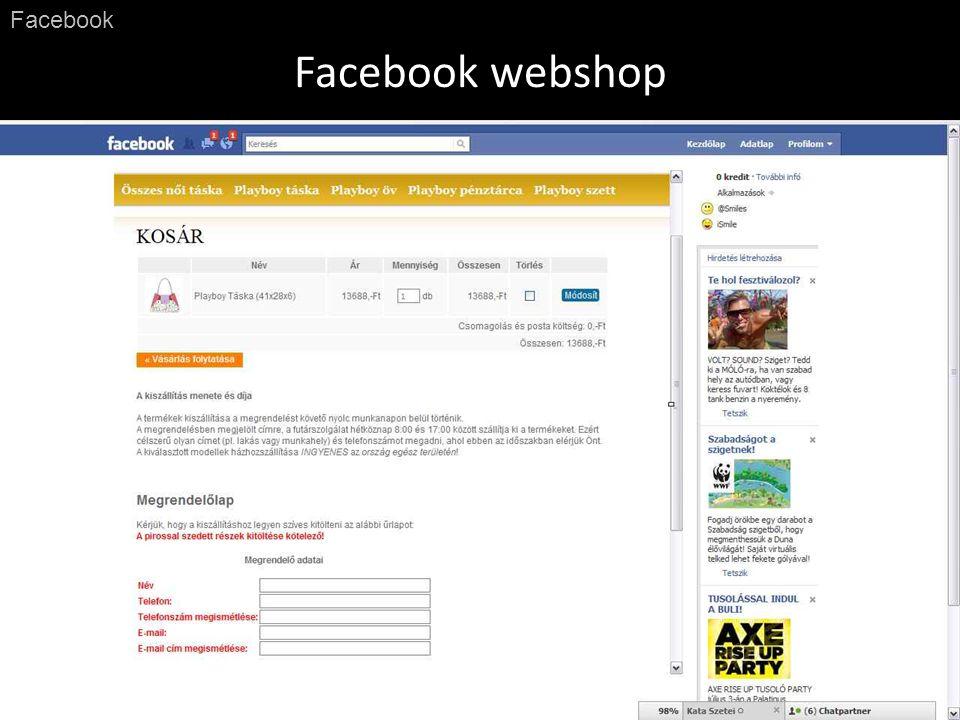 Facebook webshop Facebook
