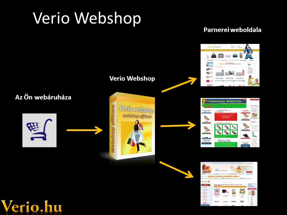 Verio Webshop Az Ön webáruháza Verio Webshop Parnerei weboldala