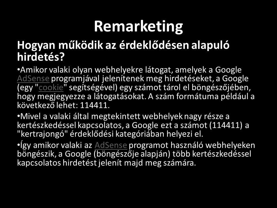Remarketing Hogyan működik az érdeklődésen alapuló hirdetés.