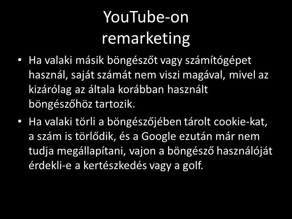 YouTube-on remarketing • Ha valaki másik böngészőt vagy számítógépet használ, saját számát nem viszi magával, mivel az kizárólag az általa korábban használt böngészőhöz tartozik.