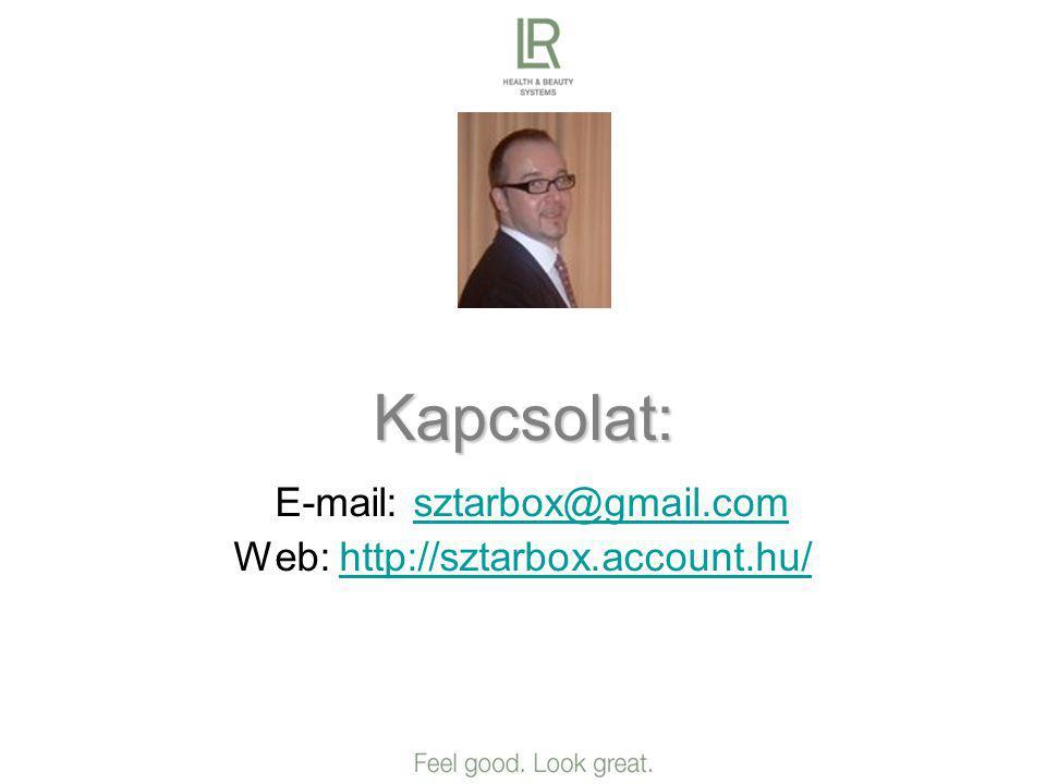 Kapcsolat: E-mail: sztarbox@gmail.com Web: http://sztarbox.account.hu/