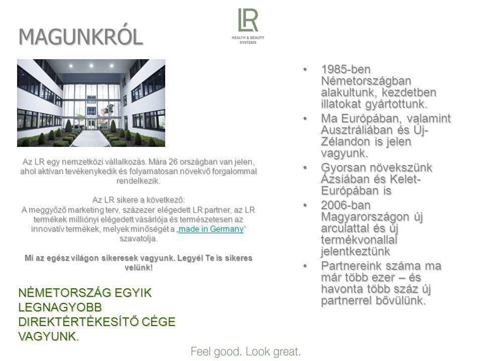 MAGUNKRÓL •1985-ben Németországban alakultunk, kezdetben illatokat gyártottunk.