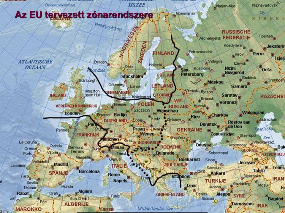Az EU tervezett zónarendszere
