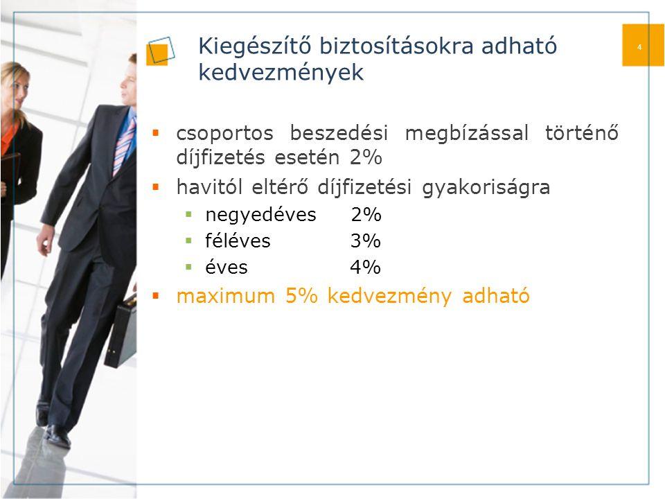 Díjszámítás  Biztosítási összeg nagyságától függően, külön férfi és női díjtábla alapján.