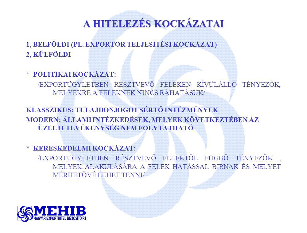 A HITELEZÉS KOCKÁZATAI 1, BELFÖLDI (PL.