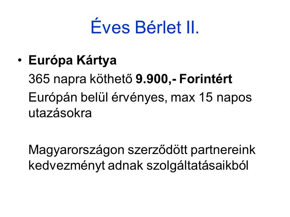 Éves Bérlet II.