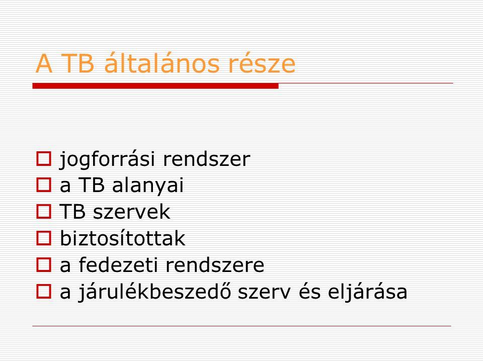 A TB általános része: a jogforrási rendszer  A Magyar Köztársaság Alkotmánya: 1949.