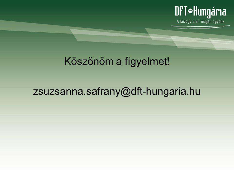 Köszönöm a figyelmet! zsuzsanna.safrany@dft-hungaria.hu