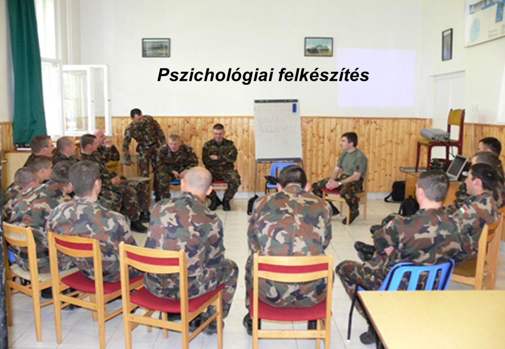 Pszichológiai biztosítás szintjei a MH-nél 18 HK ÁEK pszichiátriai osztály, MH HEK Pszichológiai Intézet Csapatpszichológiai Szolgálat Krízisprevenciós és intervenciós hálózat Önsegítés, társas segítés, vezetői beavatkozások