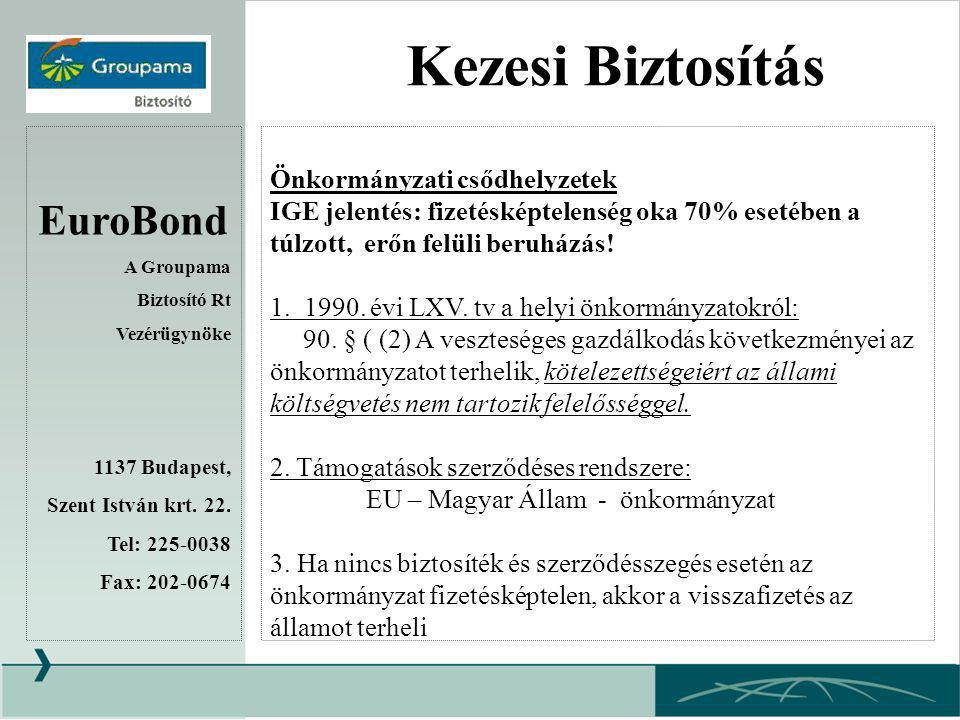 EuroBond A Groupama Biztosító Rt Vezérügynöke 1137 Budapest, Szent István krt.