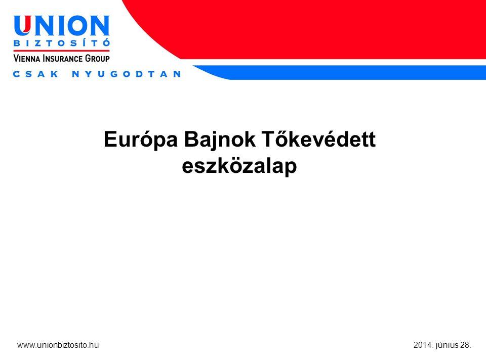 www.unionbiztosito.hu 2014. június 28. Európa Bajnok Tőkevédett eszközalap