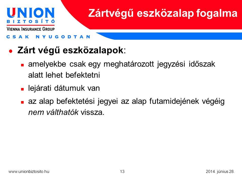 13 www.unionbiztosito.hu 2014. június 28.