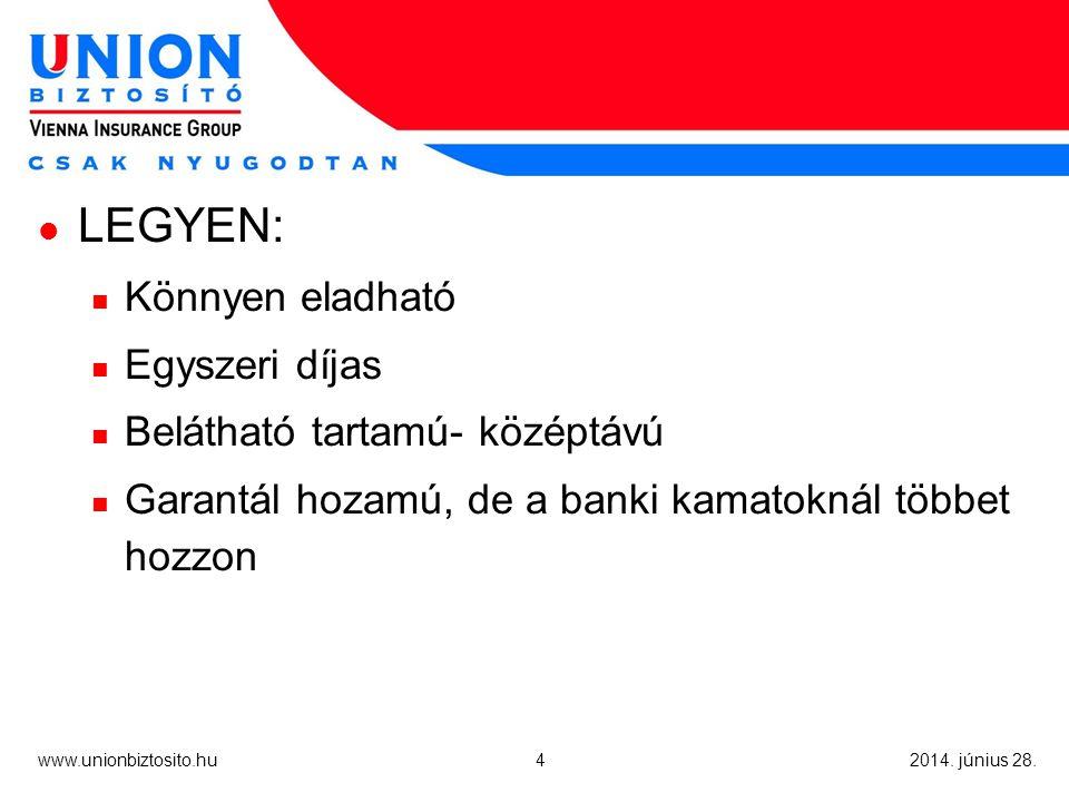 4 www.unionbiztosito.hu 2014. június 28.