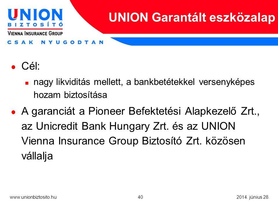 40 www.unionbiztosito.hu 2014. június 28.