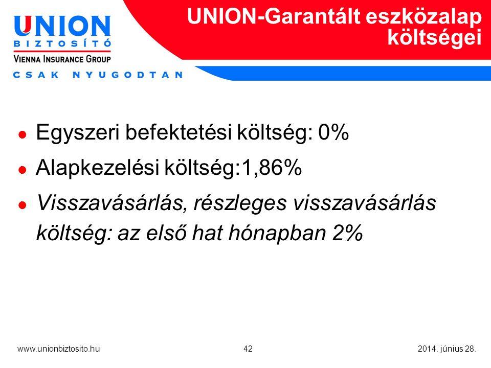 42 www.unionbiztosito.hu 2014. június 28.