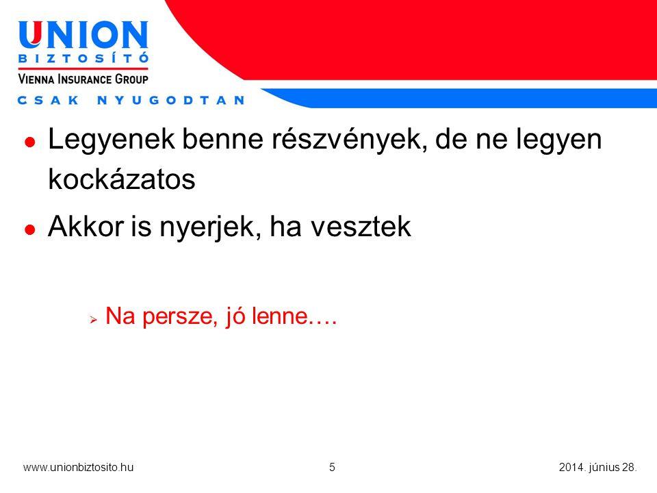 6 www.unionbiztosito.hu 2014.június 28.