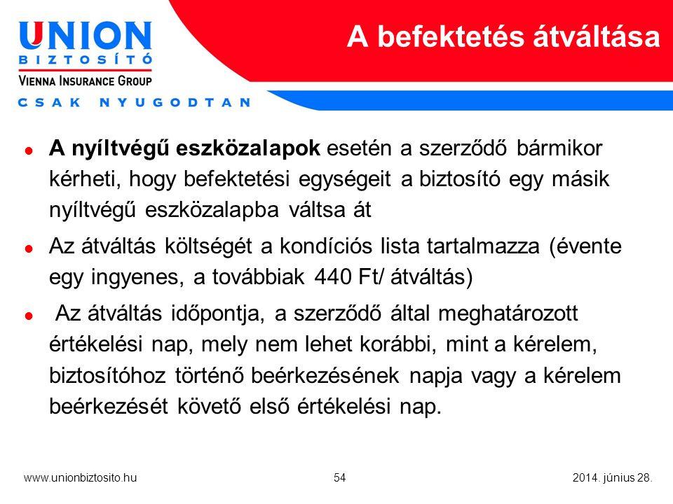 54 www.unionbiztosito.hu 2014. június 28.
