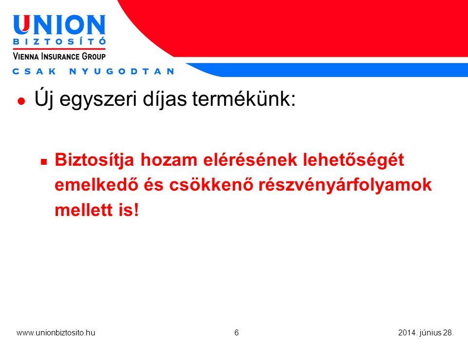 www.unionbiztosito.hu 2014. június 28. És megcsináltuk: UNION TITÁN
