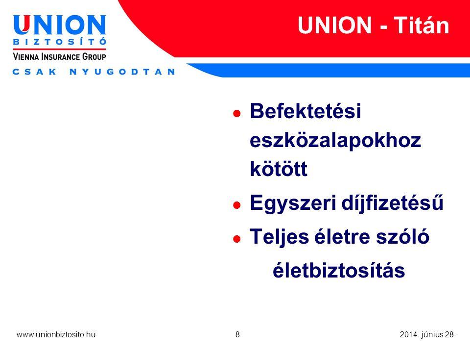 8 www.unionbiztosito.hu 2014. június 28.