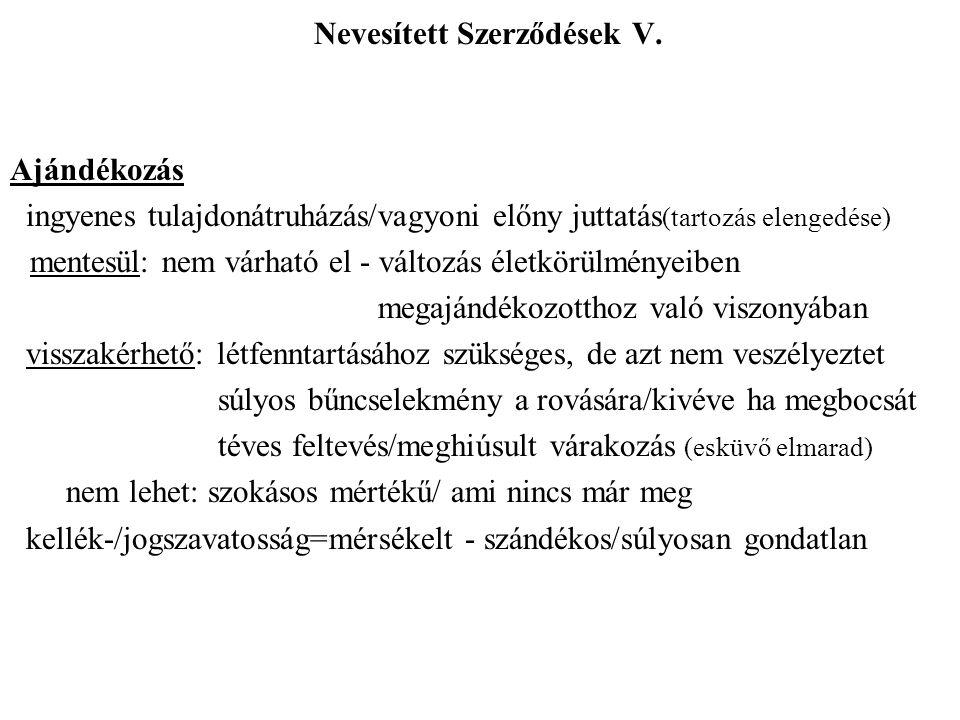 Nevesített Szerződések V.
