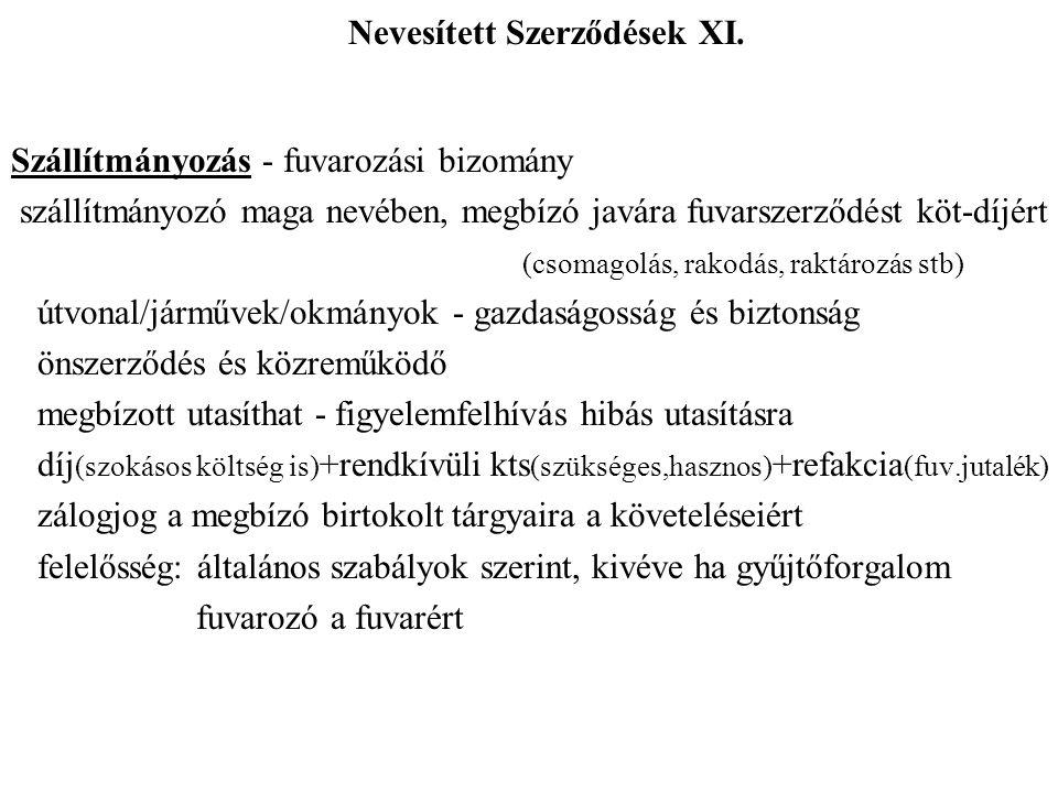 Nevesített Szerződések XI.
