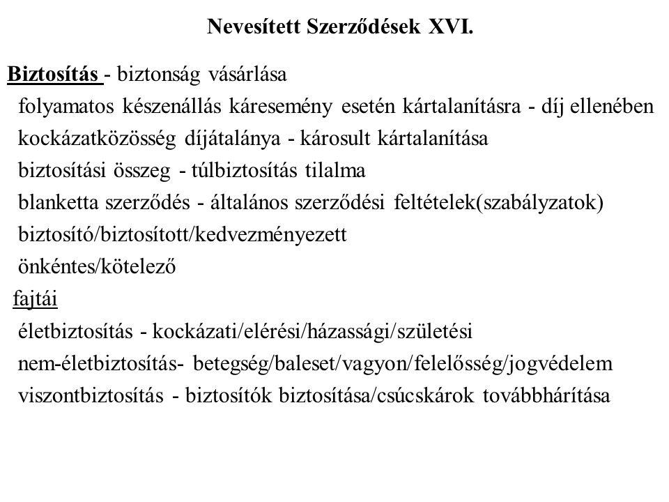 Nevesített Szerződések XVI.