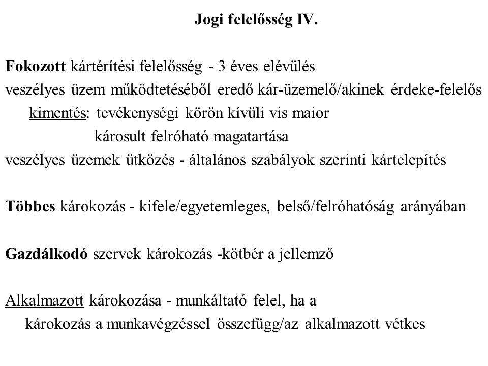 Jogi felelősség IV.