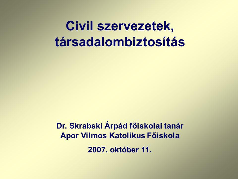Dr.Skrabski Árpád főiskolai tanár Apor Vilmos Katolikus Főiskola 2007.