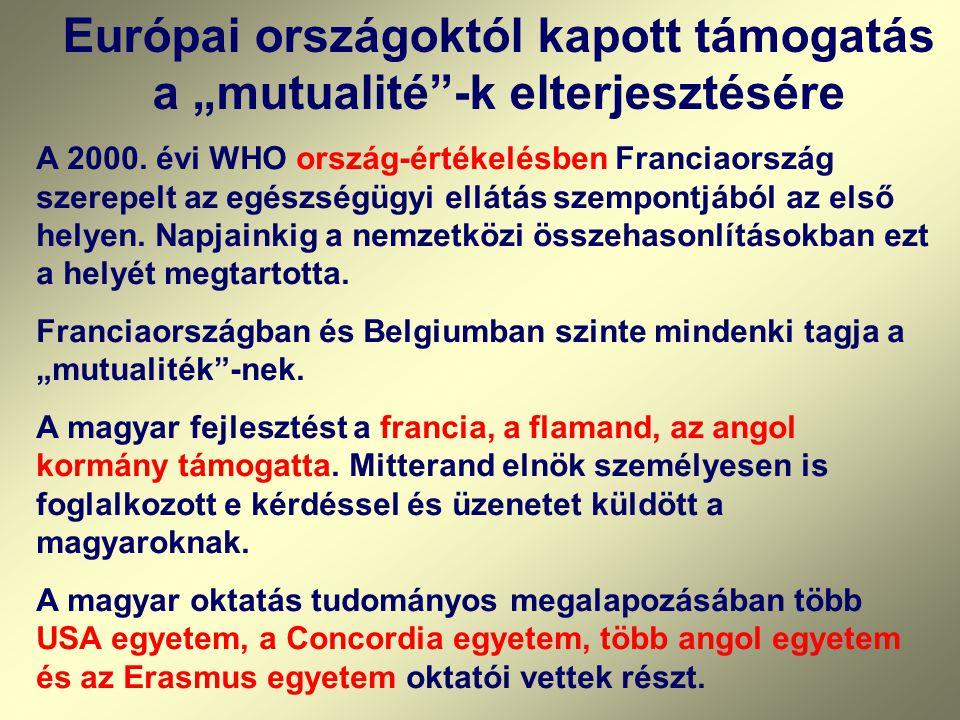 PROJEKTEK Nemzeti koordinátor: Skrabski Árpád EREDMÉNYEK Hun/87/005 A társadalombiztosítás költséghatékonyságának fokozása a népesség egészségi állapo