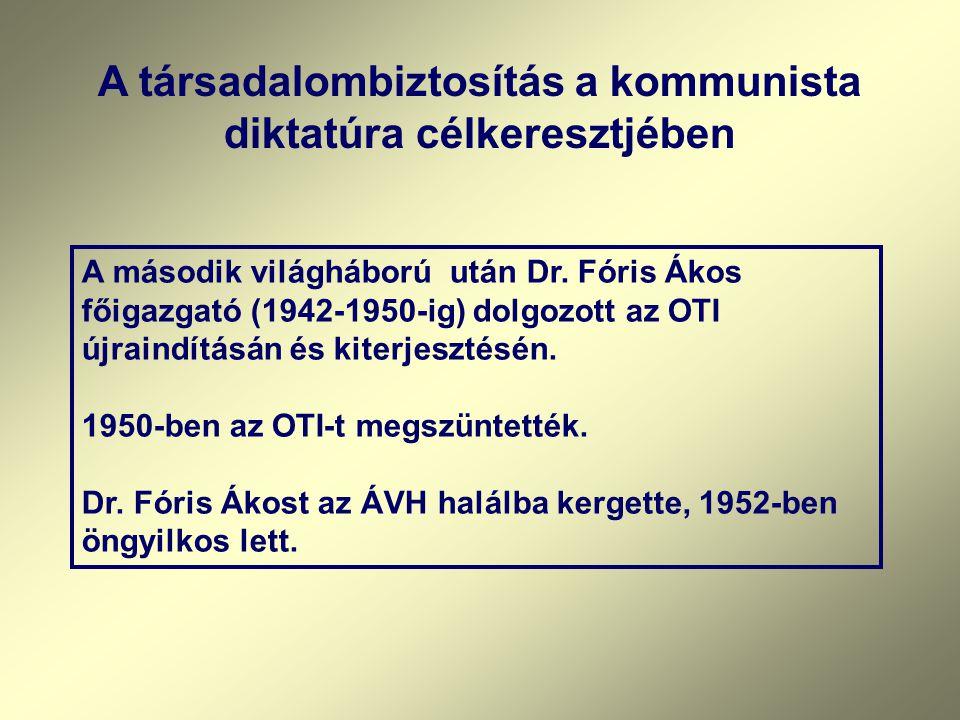 1942 – 43 között – A nyilasok megpróbálnak befolyást szerezni az OTI -ban. A szélsőséges politikának ellenálló, s az OTI elveit korábban is töretlenül