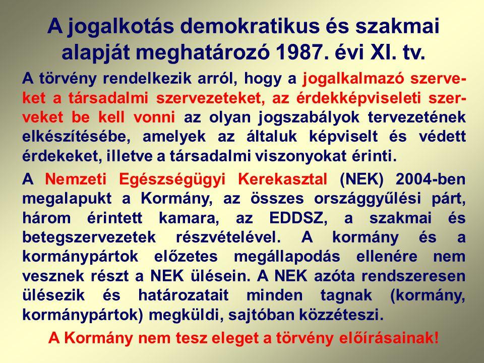 """1999 március - Előterjesztés a Kormány részére """"Az egészségbiztosítás továbbfejlesztése döntést igénylő kérdéseiről""""- a dokumentumot a társadalombizto"""