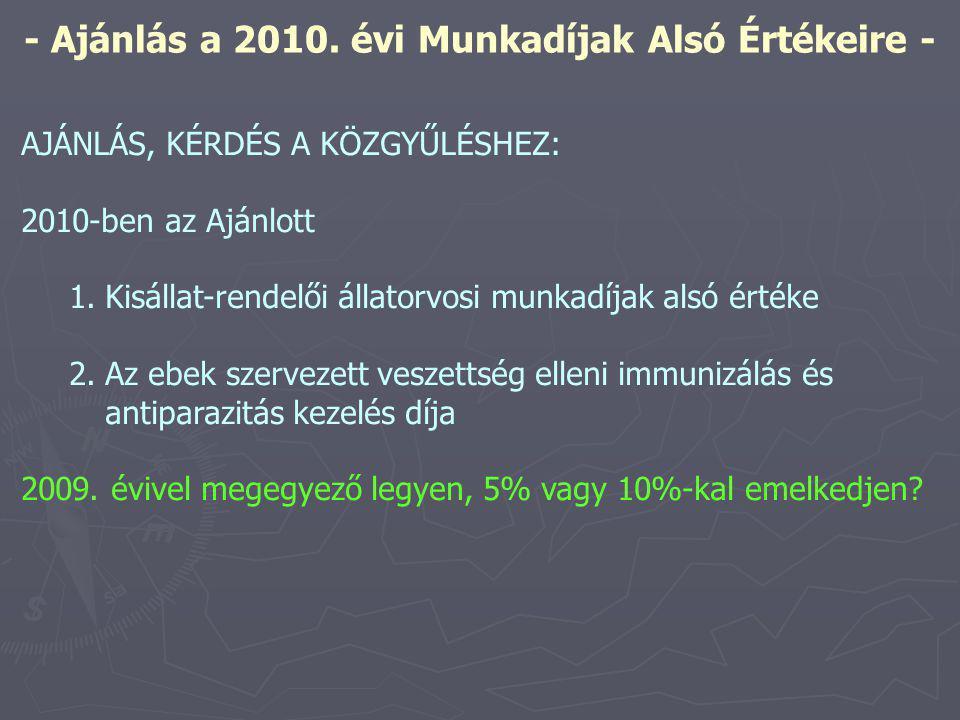 - Ajánlás a 2010.