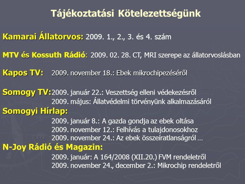 Kamarai Állatorvos: és : Kapos TV: 2009.