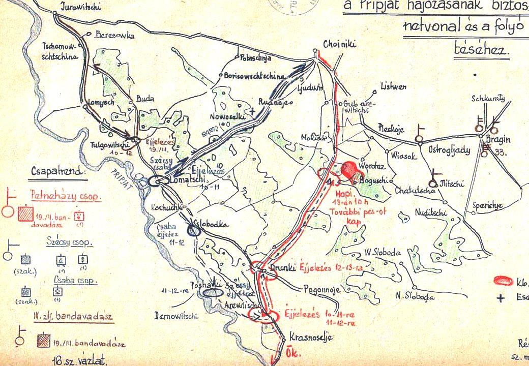 Az előző napokban az ezredparancsnok tudomására jutott, hogy a Choiniki-től 18 km-re, Worteztől D-re lévő erdőben kb.