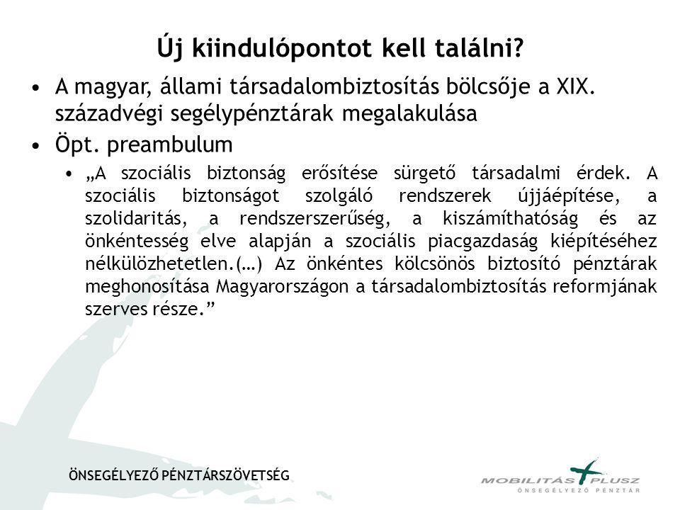 """ÖNSEGÉLYEZŐ PÉNZTÁRSZÖVETSÉG •A magyar, állami társadalombiztosítás bölcsője a XIX. századvégi segélypénztárak megalakulása •Öpt. preambulum •""""A szoci"""