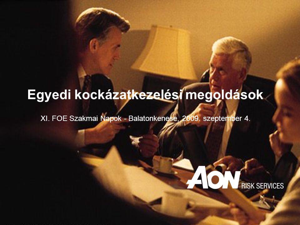 XI. FOE Szakmai Napok - Balatonkenese, 2009. szeptember 4. Egyedi kockázatkezelési megoldások