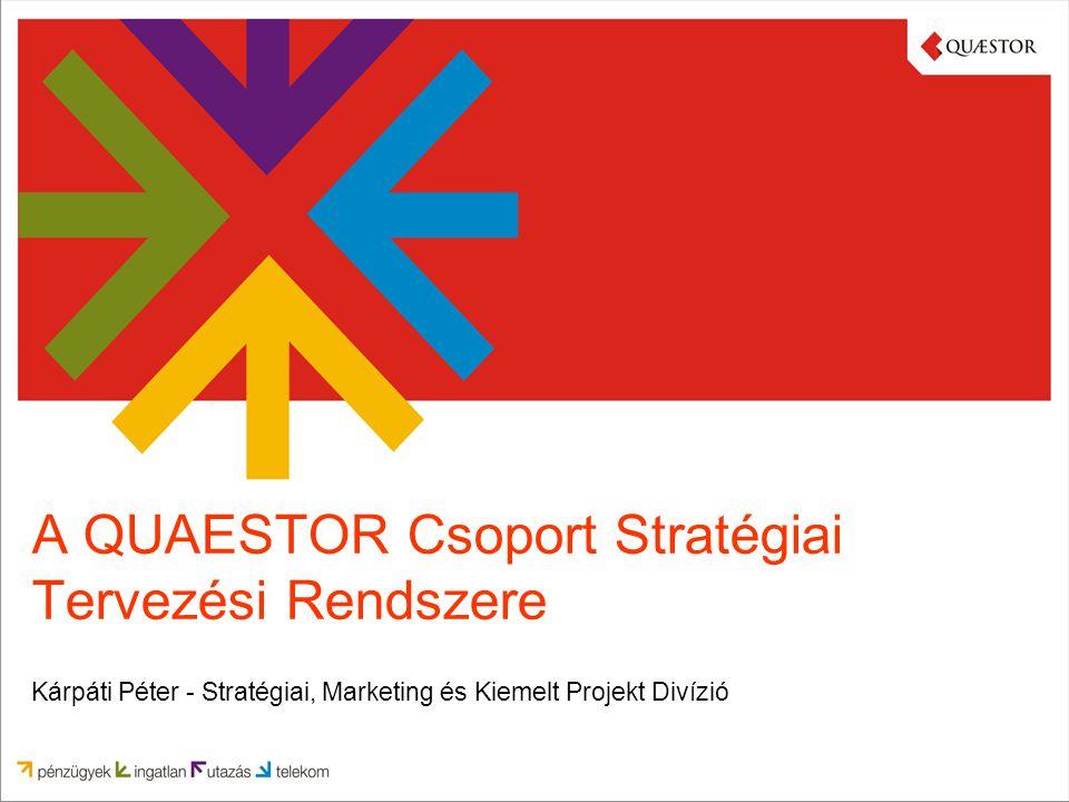 A QUAESTOR Csoport bemutatása A QUAESTOR Csoport négy fő területen nyújt átfogó szolgáltatásokat, amelyek közül Magyarország minden huszonötödik családja igénybe vett már legalább egyet.