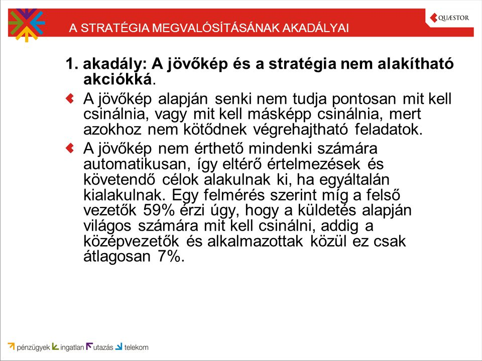 A STRATÉGIA MEGVALÓSÍTÁSÁNAK AKADÁLYAI 2.