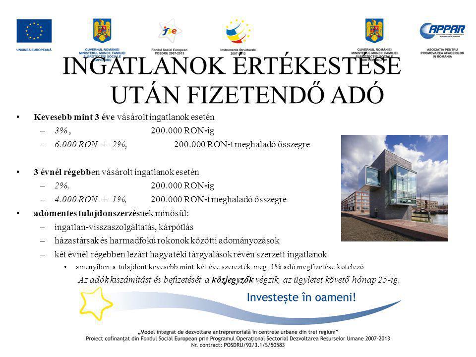 ANAF – Activitatea de Inspectie Fiscala Transzfer árak felülvizsgálata Két RO-i vállalkozás (mindkettő ÁFA fizető) Eladó értékesít egy telket a vevő felé Eladási érték 5.000.000 EUR + 24% TVA A két cég cégcsoportban van Vevő cég visszaigényli az AFÁ-t Eladó Vevő Terület / telek 5.000.000 EUR + TVA 1.200.000 EUR visszaigényelt ÁFA X
