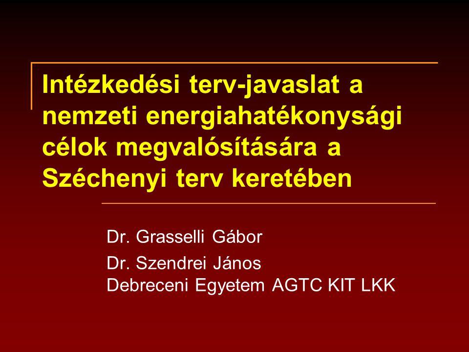 Intézkedési terv-javaslat a nemzeti energiahatékonysági célok megvalósítására a Széchenyi terv keretében Dr.
