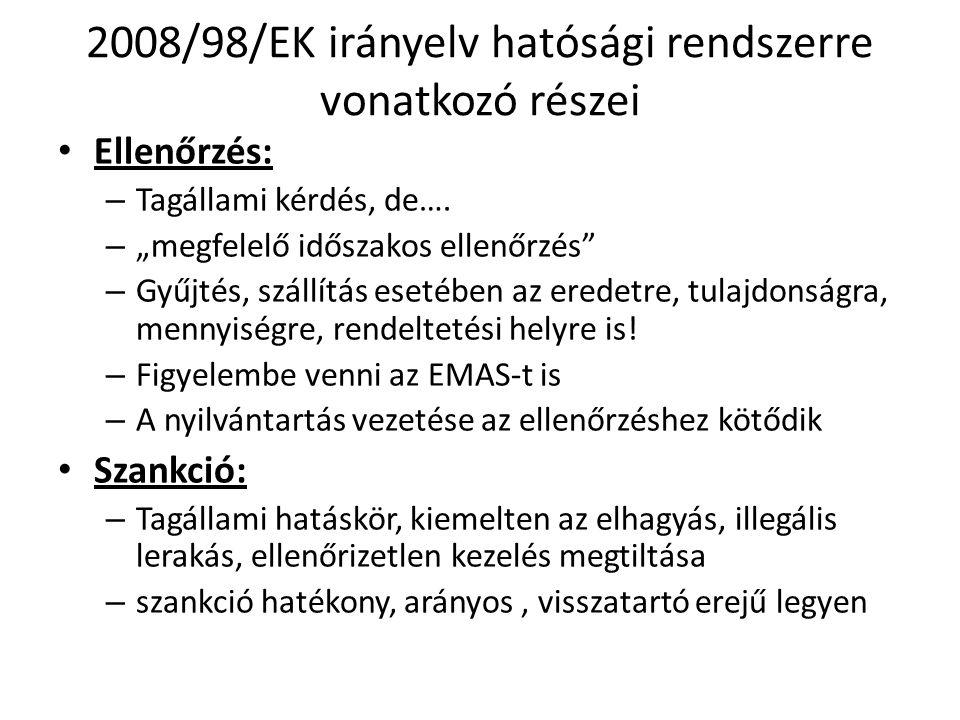 Hatásköri szabályok • A 441/2012.(XII. 29.) Korm.