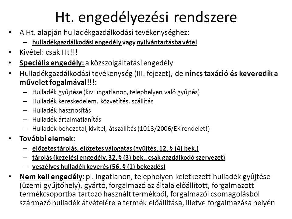 OHÜ minősítés • Nem a hatósági engedélyezési rendszer része, de…..