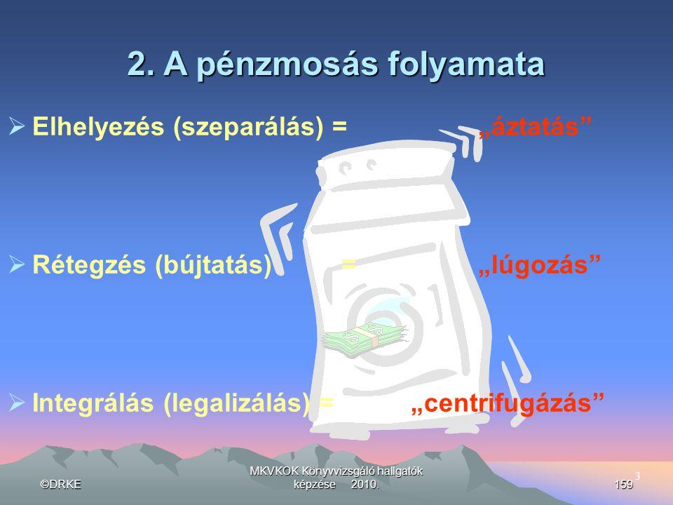 """©DRKE MKVKOK Könyvvizsgáló hallgatók képzése 2010.159  Elhelyezés (szeparálás) =""""áztatás""""  Rétegzés (bújtatás) =""""lúgozás""""  Integrálás (legalizálás)"""