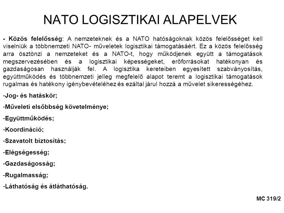 NATO LOGISZTIKAI ALAPELVEK - Közös felelősség: A nemzeteknek és a NATO hatóságoknak közös felelősséget kell viselniük a többnemzeti NATO- műveletek lo