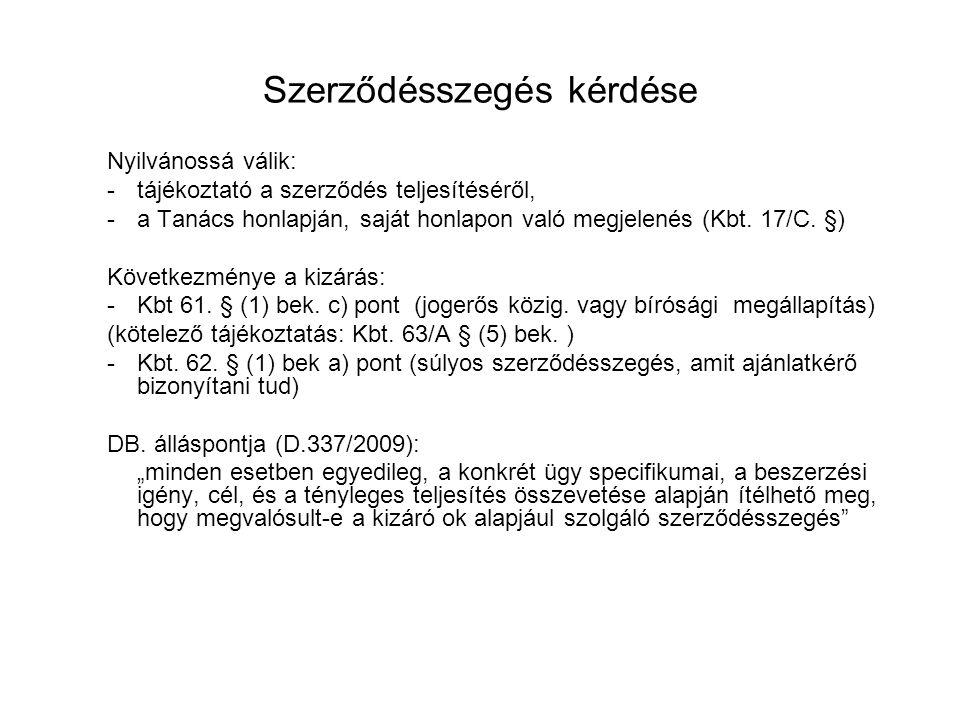 Új, általános egyszerű eljárás II.6. Kizáró okok igazolásai Kbt.