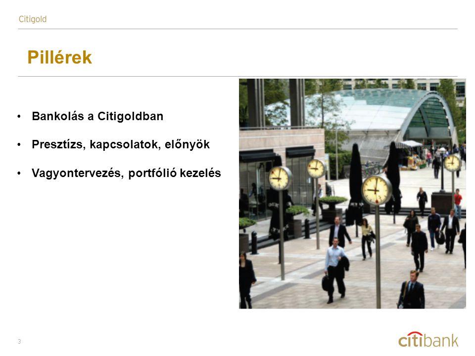 4 Pillérek: Bankolás a Citigoldban Belegondolt-e már abba, hogy együtt mozgatjuk a világot.